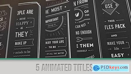 Videohive Titles Collection Free