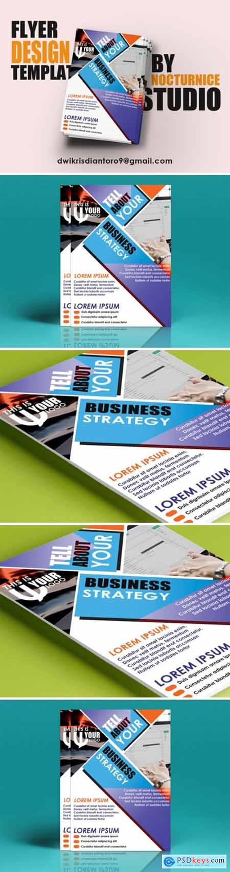 Business Strategy Flyer Template PSD