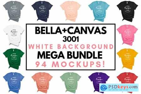 Bella Canvas 3001 White Backdrop Mockups