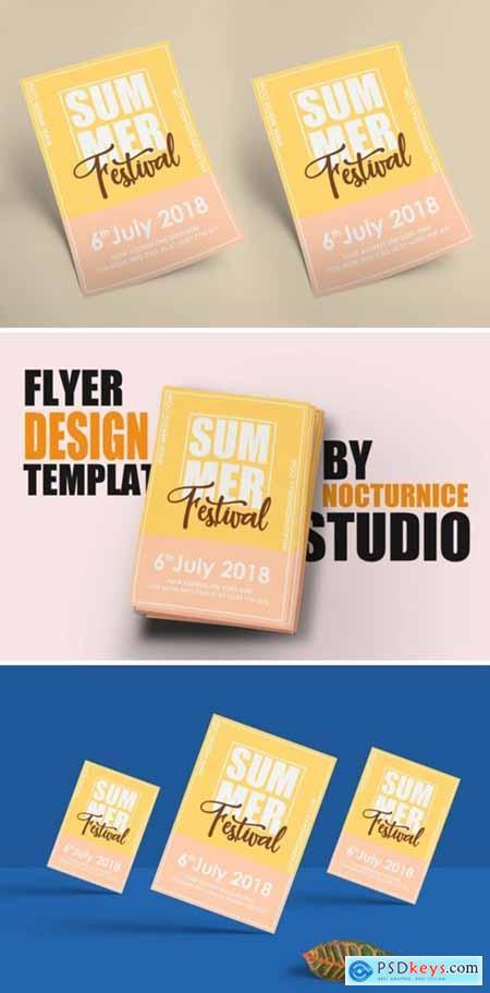 Summer Festival Flyer Template PSD