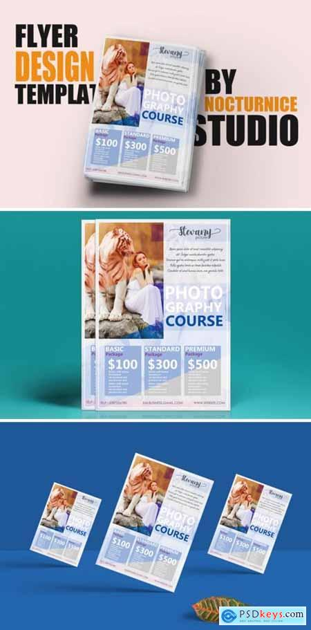 Feminine Style Flyer Template Design PSD