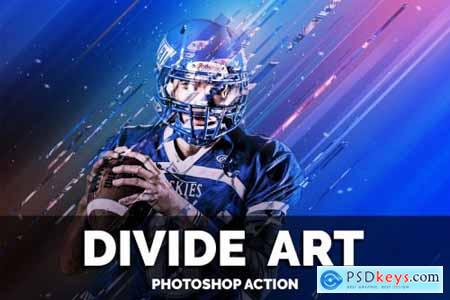 Divide Art Photoshop Action