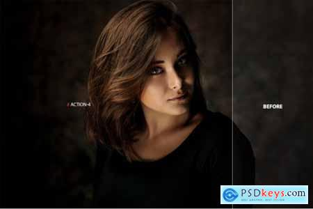 Professional Portrait Photoshop Action