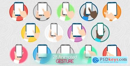 Videohive Animated Gesture Icons Free