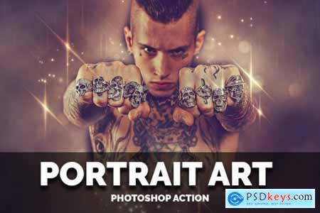 Portrait Art Photoshop Action