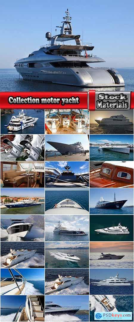 Collection motor yacht mast rope sea water nature leisure 25 HQ Jpeg