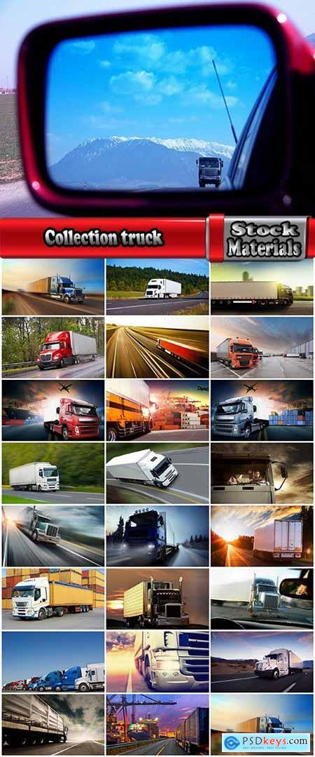 Collection truck truck road freight delivery container motor motor wheel road train 24 HQ Jpeg