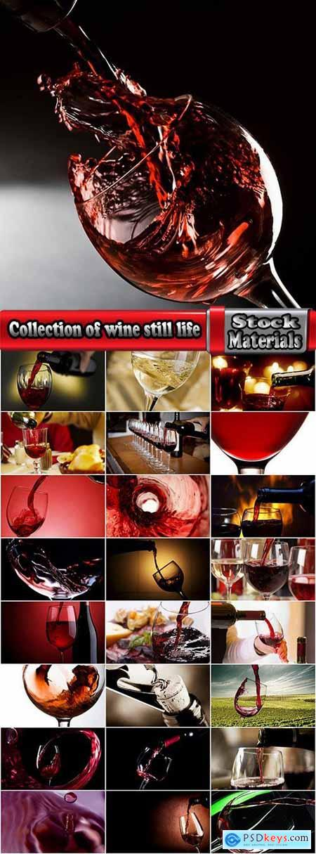 Collection of wine still life red and white grape garnet glass barrel 2-25 HQ Jpeg