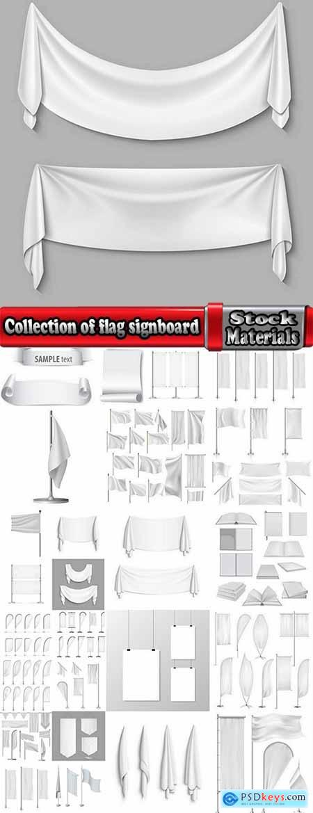 Collection of flag signboard banner signboard for advertising vector image 25 EPS