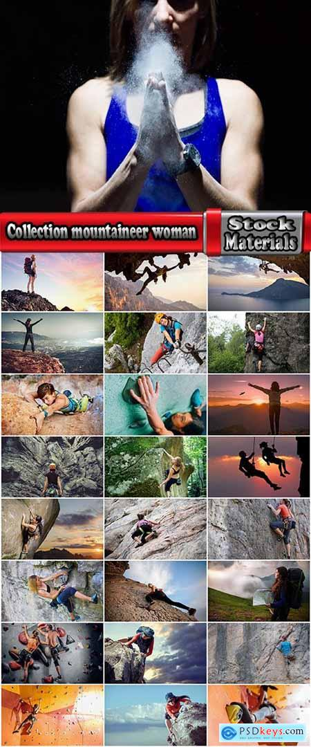 Collection mountaineer woman outfit mountain rock rope rope nature landscape 25 HQ Jpeg