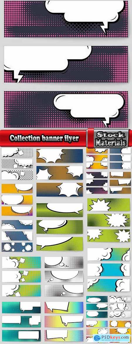 Collection banner flyer abstract creative concept vector comic pop art style 20 EPS