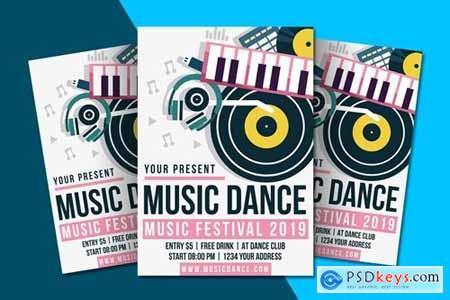 Music Dance Flyer Template