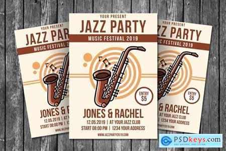 Jazz Party Flyer Template