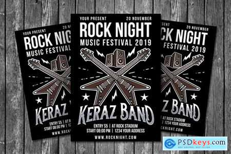 Rock Night Flyer Template