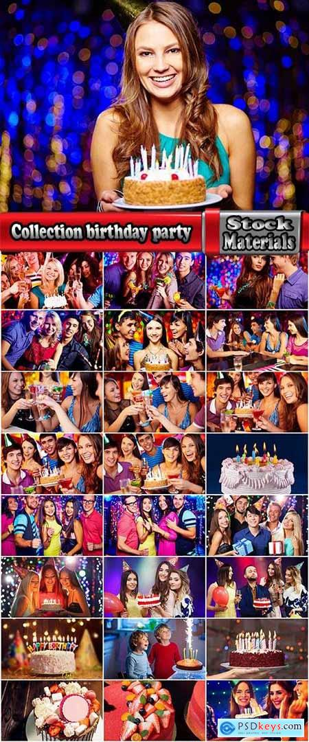 Collection birthday party cake company people celebrate holiday 25 HQ Jpeg