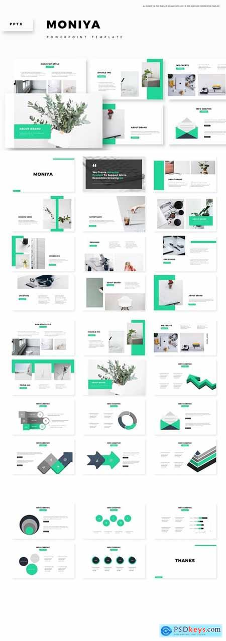 Moniya - Powerpoint, Keynote, Google Slides Templates