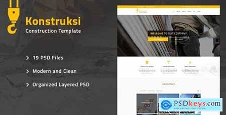 Konstruksi - Construction and Building PSD Template