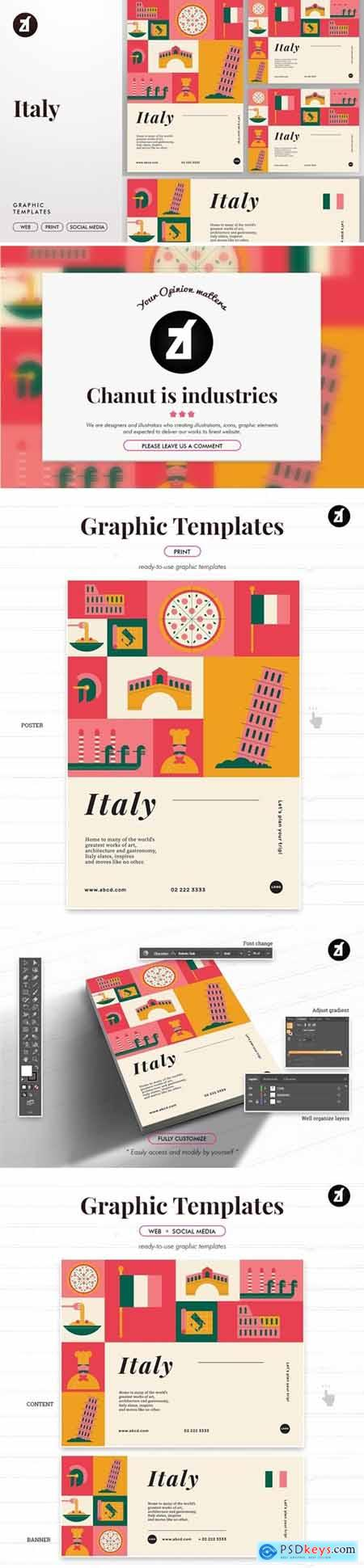 Italy graphic templates