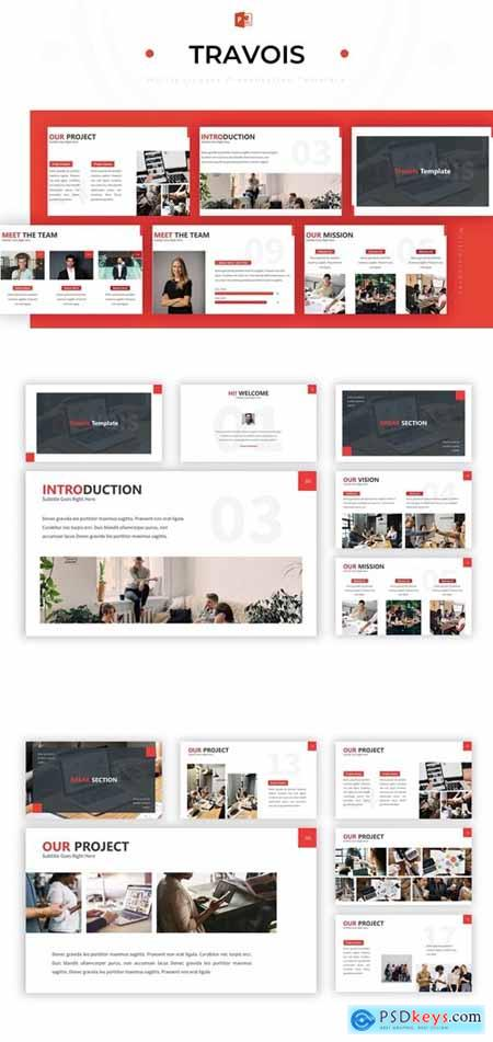 Travois - Powerpoint Template » Free Download Photoshop Vector Stock
