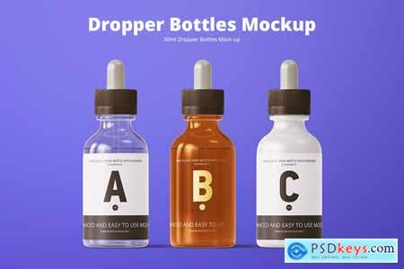 30ml Dropper Bottles Mockup