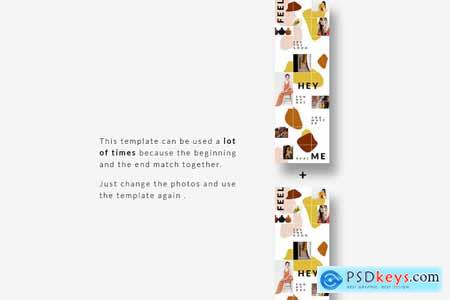 Instagram PUZZLE template - Abstract