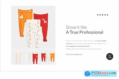 Onesie Baby Pants Mock-up Generator