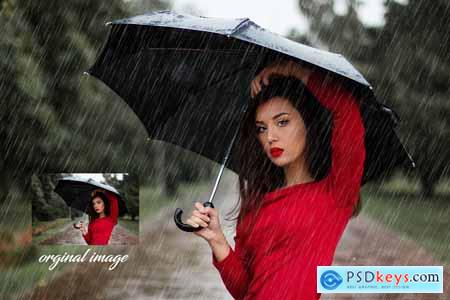 Raining Photoshop Action
