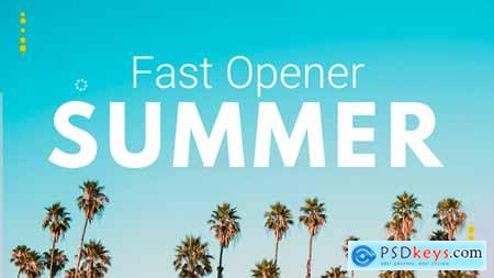 Videohive Summer Fast Opener Free