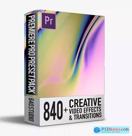 840 Transitions Pack For Premiere Pro CC V.3.1.2 Premiere Pro Templates