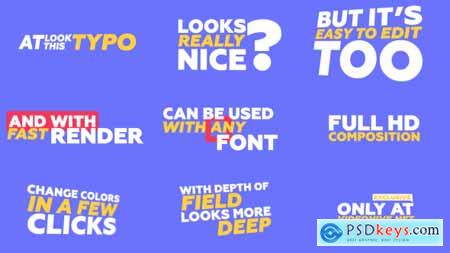 Videohive Kinetic Typography & Trantisions Pack Free