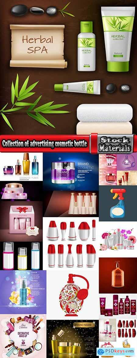 Collection of advertising cosmetic bottle container bottle plastic packaging 24 EPS
