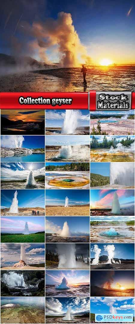 Collection geyser fountain natural phenomenon hot water gas 25 HQ Jpeg
