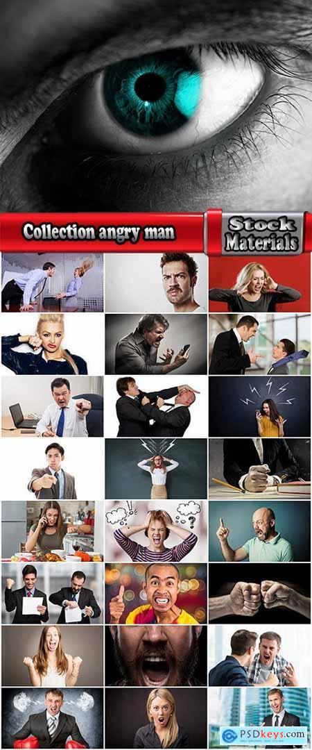 Collection angry man female man scream fury evil eye sight 25 HQ Jpeg