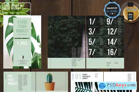 Case Study With Blue Accent Layout