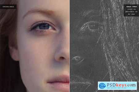 Chalk Effect Photoshop Action