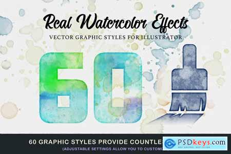 WaterPress Vector Watercolor Effects