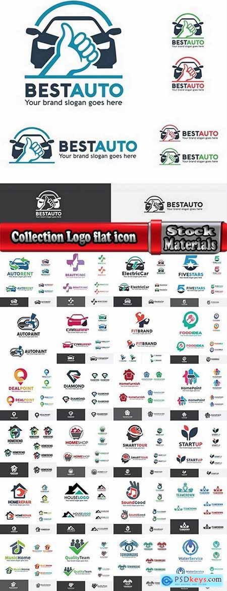 Collection Logo flat icon web design element site 82-18 EPS