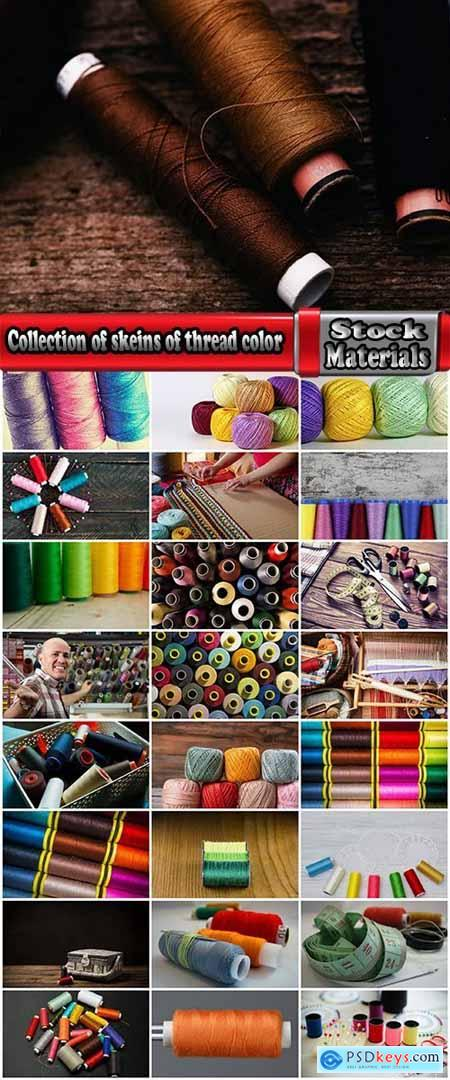 Collection of skeins of thread color thread embroidery weaving of fabric 25 HQ Jpeg
