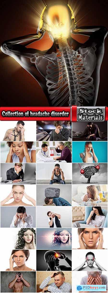 Collection of headache disorder of body disease 25 HQ Jpeg