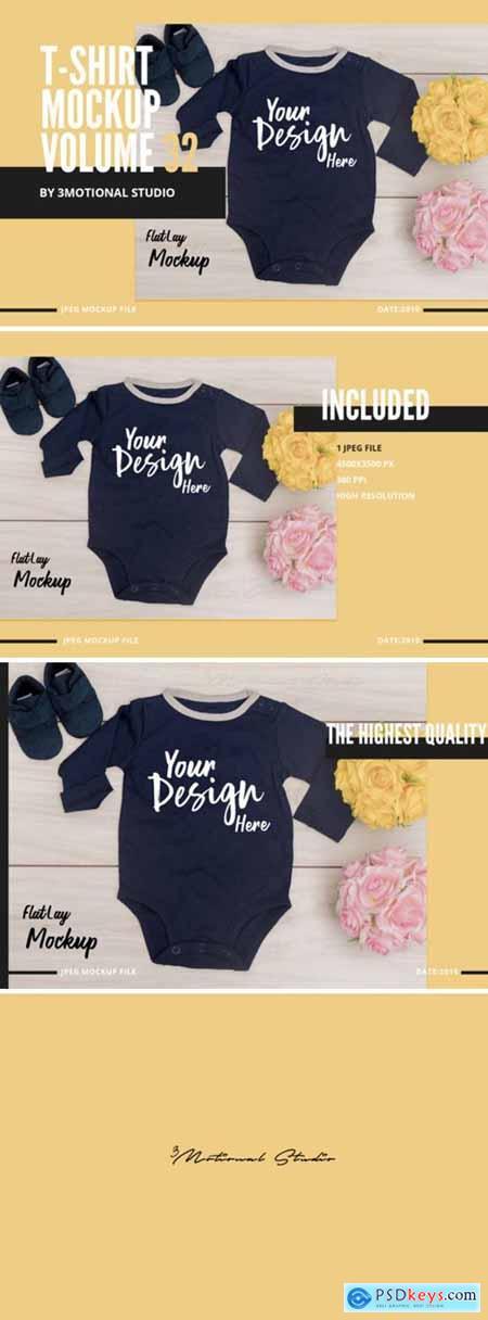 Neo Baby T-Shirt Mockup Volume 32