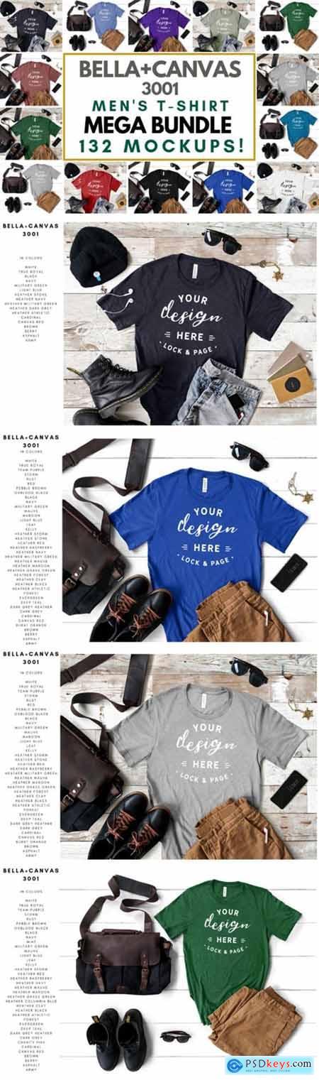 Men's Bella Canvas Mockup T-Shirt Bundle
