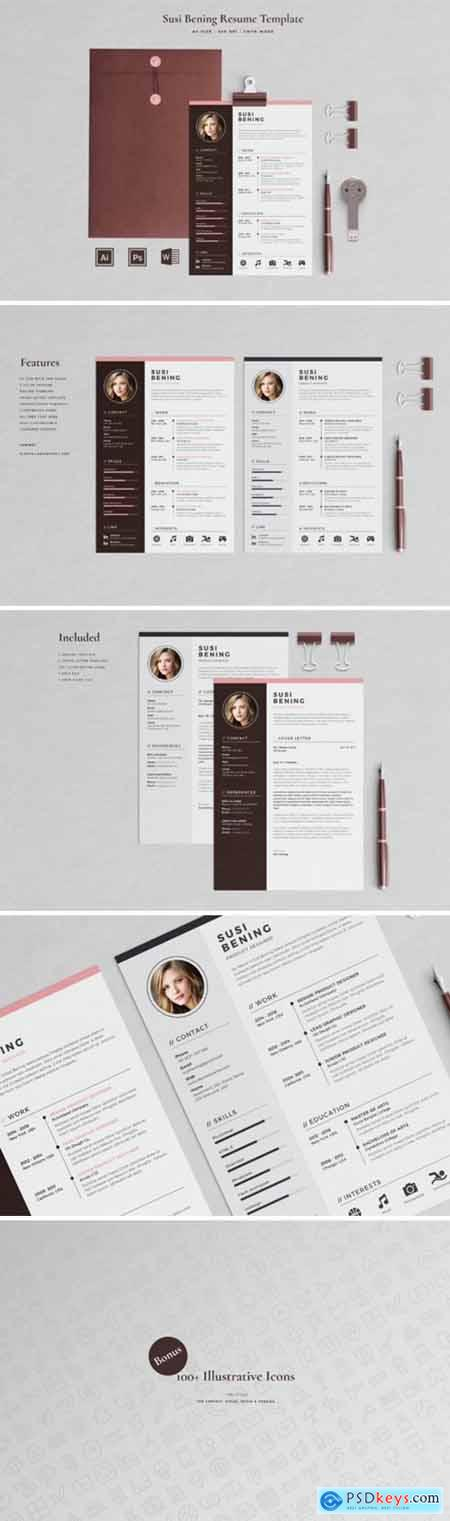 Resume Template 2 Pages Bening