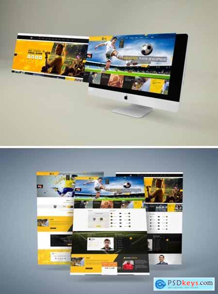 Soccer Club and Sport PSD Template