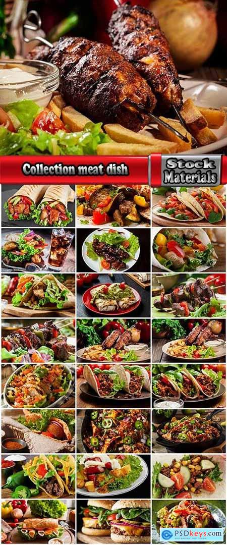 Collection meat dish grilled meat burger burrito salad vegetables 25 HQ Jpeg