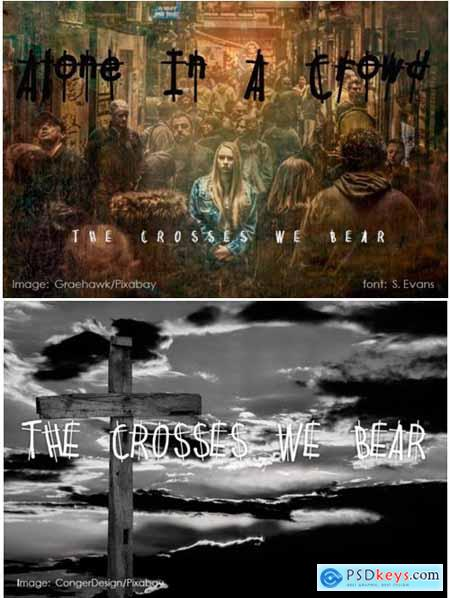 The Crosses We Bear Font