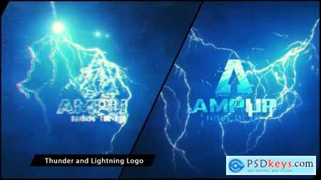 Videohive Thunder and Lightning Logo Free