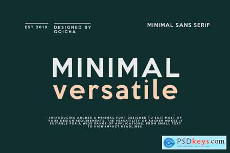 Archer - Minimal Sans Serif