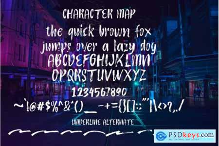 Atokous Dry Brush Fonts