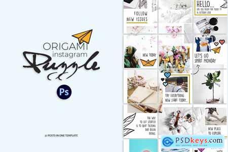 Origami Instagram Puzzle