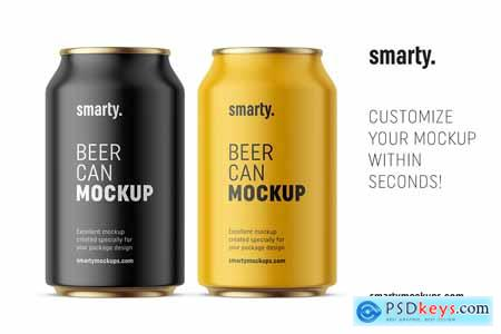 Beer can mockup 330 ml